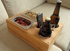 The perfect men& gift! Sofa tray - beer crate - drink holder man (s) . The perfect men& gift! Sofa tray – beer crate – drink holder You want to relax on the sof