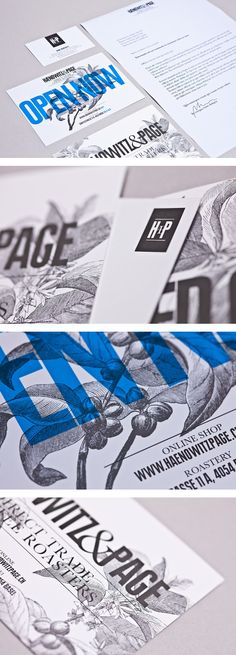 Cool Brand Identity Design. Haenowitz  Page Coffee. #branding #brandidentity [http://www.pinterest.com/alfredchong/]