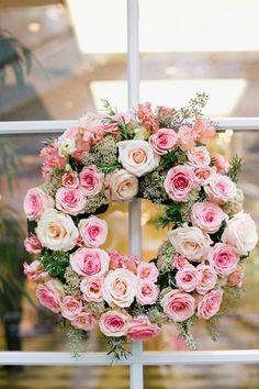 romantic cottage rose wreath