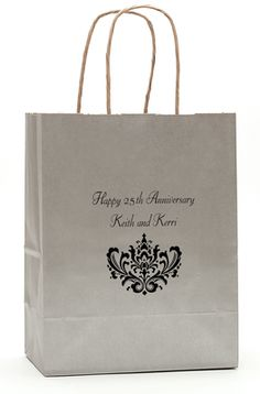 Personalized Ornate Scroll Handled Bag