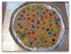 Chocolate Chip Cookie Cake Baked in a Pizza Pan