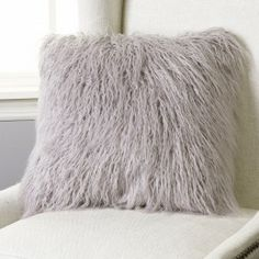 This gorgeous Mongolian Lamb Faux Fur pillow is the perfect decor piece for any sofa, chair or bed.18 inch pillow has Mongolian Lamb Faux Fur on front and back24 inch pillow has Mongolian Lamb Faux Fur front and reverses to a color matched soft and velvety backingAvailable in two sizes: 18