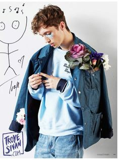 Troye Sivan in the Coup de main magazine