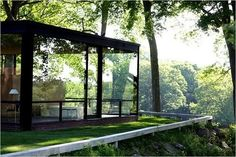 Glass House by Philip Johnson; it's not just the house, it's the setting. Tree House Interior, Home Interior Design, Interior Architecture, Interior Designing, Sustainable Architecture, Residential Architecture, Future House, My House, Casa Farnsworth