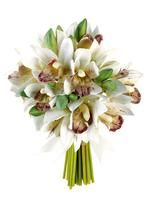 White Real Touch Hand-Tied Small Calla Lily Wedding Bouquet | Wedding Flowers