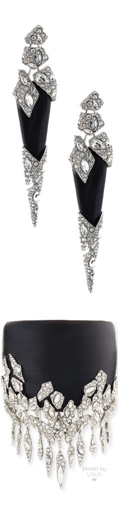 Alexis Bittar Cascading Hinge Cuff and Earrings |  LOLO❤︎