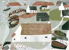 Edge of the Sea - a linocut by Melvyn Evans – St. Royal College Of Art, Linocut Prints, Geometric Art, Art Techniques, Book Design, Printmaking, Illustrators, Paper Art, Illustration Art