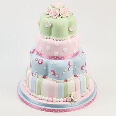 Tier Cath Kidston Style Wedding Cake  Mia