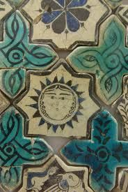 Konya Karatay Madrasa Museum - Handmade tiles can be colour coordinated and customized re. shape, texture, pattern, etc. by ceramic design studios Tile Art, Mosaic Art, Mosaic Tiles, Turkish Tiles, Turkish Art, William Morris, Art Nouveau, Handmade Tiles, Decorative Tile
