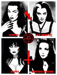 Vampira, Lilly, Elvira, Morticia, and don't forget Jessica (True Blood)  They may like a bit of human sap but they are all beauties.