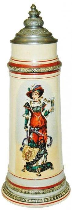 2L Well Dressed Woman w Beer Stein : Lot 136
