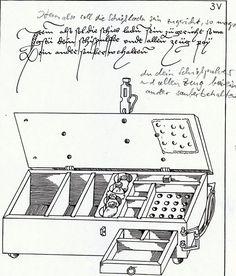 Kiste für Pulverladungen