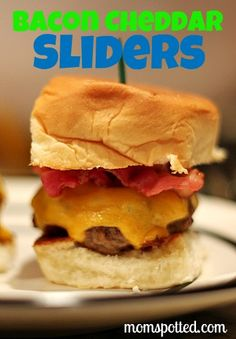 Double Bacon Cheddar Mini Slider Burgers Recipe