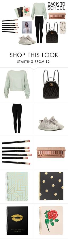 """Back To School"" by adulak on Polyvore featuring Sans Souci, Gucci, Wolford, adidas Originals, Urban Decay, Vera Bradley, Kate Spade, ban.do and Sonix"