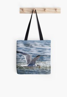 Taking Home Dinner by Debra Martz #ToteBag #tote #bag #seagulls http://www.redbubble.com/people/debramartz/works/13952907-taking-home-dinner?p=tote-bag