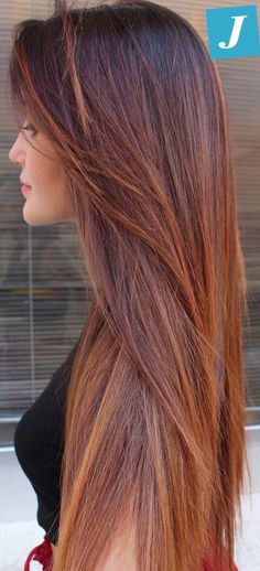 Little Girl Hairstyles : Flawless _ Degradé Joelle # degradé . Brown Blonde Hair, Brunette Hair, Ombre Hair, Balayage Hair, Auburn Hair, Grunge Hair, Hair Highlights, Gorgeous Hair, Hair Looks