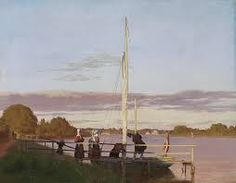 """Christen Kobke - View of Osterbro from Dosseringen, 1838 """"When this light is like this, I feel like that."""" """"Not boredom, not frustration. Feeling of exactly right."""""""