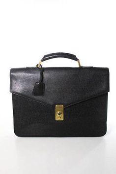Chanel Black Caviar Leather Gold Tone Single Handle Envelope Briefcase (eBay Link)