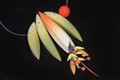 Peninsula Exhibit - Jeff Dever - one of my fave polymer clay artists.  Gorgeous botanicals!