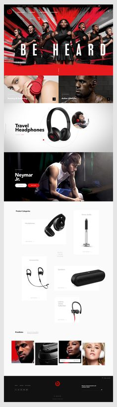 Beats by Dre website on Behance
