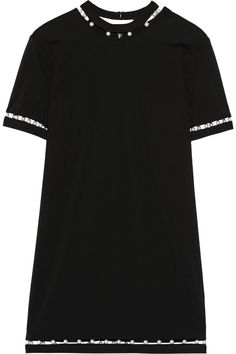 Finds|+ Adam Selman embellished jersey mini dress|NET-A-PORTER.COM