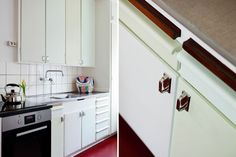 An orignal funkis (1930-1940'ies) kitchen. Lovely details with the slight…
