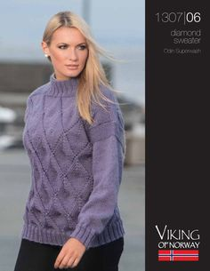 Free Knitting Patterns: Free knitting pattern: Diamond Sweater