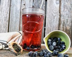 Loose leaf tea: Blueberry Beach Breeze Organic Green Tea Handcrafted Small Batches, Artisan w/ Real Organic Washington blueberries by BeachHouseTeas on Etsy