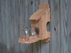 Squirrel Feeder: Medium Glass Jar