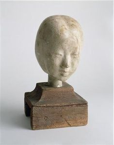 Isamu Noguchi, Tsuneko San (Head of a Japanese Girl), 1931, Plaster of Paris