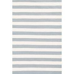 Dash and Albert Rugs Dash and Albert Rugs Indoor/Outdoor Trimaran Light Blue/Ivory Striped Rug