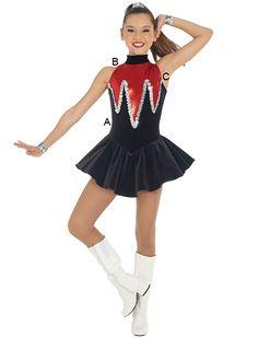 engaging dress. More information. More information. Majorette Costume ...  sc 1 st  Pinterest & Majorette Costume (Waterfall Dress) | Drum and Lyre Uniforms ...