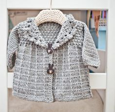 Looking for your next project? You're going to love Crochet Baby (Toddler) Jacket by designer MonPetitViolon.
