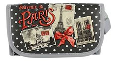 gorgeous French Vintage Cosmetic Pouch with Mirror – Souvenir De Paris -  #Cosmetic #French #Mirror #Paris #Pouch #Souvenir #Vintage