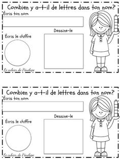 Printing and speaking sample sample activities for first few days of school. Keep in portfolio and record spoken sample to compare later. Kindergarten Language Arts, Kindergarten Centers, French Teaching Resources, Teaching French, Teacher Resources, French Language Lessons, French Lessons, Beginning Of School, First Day Of School