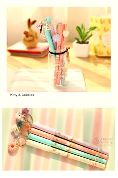 Aliexpress.com : Buy 8 pcs/Lot Sweet Gel pens Cute cat and Cookie pen Macaroon Canetas stationery zakka material escolar school supplies 6215 from Reliable pen display suppliers on V&P Home Beauty Co.,Ltd | Alibaba Group