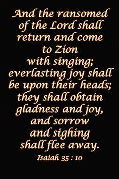 ISAIAH 35:10