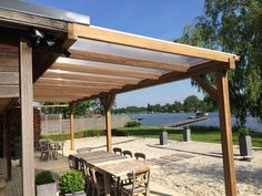 pergola zonwering hout - Google zoeken Pergola, Covered Patios, Outdoor Structures, Google, Decks, Gardens, Projects, Shed, Arbors