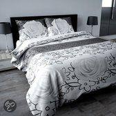 Sleeptime Dekbedovertrekset Rose Grey - 240x200/220 - Grijs + Incl. 2 kussenslopen 60x70