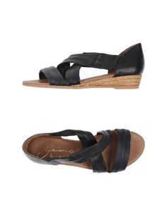 GAIMO ESPADRILLES | black leather sandals | handmade in Spain| $97 on yoox.com.