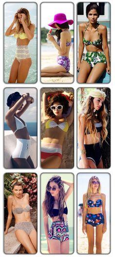 Fashion Trend: Ψηλόμεσα Μαγιό / High waist Bathing Suit