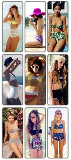 Fashion Trend: Ψηλόμεσα Μαγιό / High waist Bathing Suit