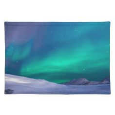Scenic View of Dramatic Sky during Winter Cloth Placemat - beautiful gift idea present diy cyo
