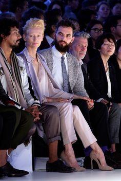 Tilda Swinton at Tokyo fashion week