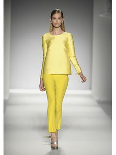 Max Mara. yellow block colours.