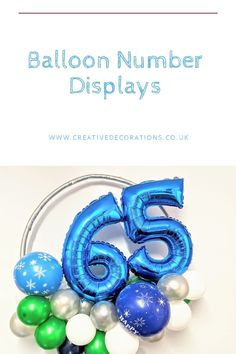 Balloon specialists like myself can do so much more with your number balloons.Why just have a floating single number when you can have a balloon display and make a feature out of the number balloon. Balloon Stands, Balloon Display, It's Your Birthday, Birthday Parties, Number Balloons, Milestone Birthdays, When You Can, Creative Decor, Wedding Anniversary