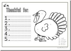 Thanksgiving Printables and Resources - Spell Out Loud