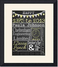 Vintage Chalkboard Retirement Gift Teacher by TheArtyApples, £9.99