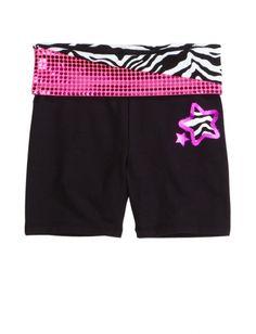 Animal Print Waistband Yoga Shorts | Girls Shorts Clothes | Shop Justice