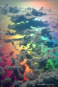 Amazing colour behind rain clouds